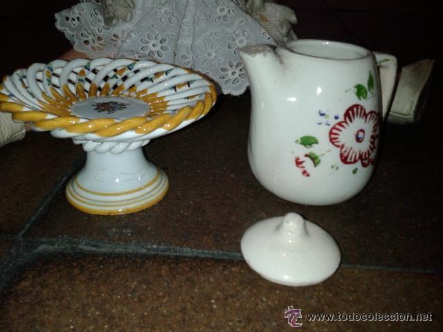 Muñeca española clasica: Bonito frutero de loza y jarra para el cafe de muñeca como Mariquita Perez. LA MUÑECA NO SE INCLUYE - Foto 3 - 43639607