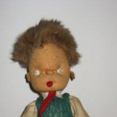 Muñeca española clasica: ANTIGUO MUÑECO CURRITO AÑOS 40- TODO DE ORIGEN, BUEN ESTADO. Lote 43842622