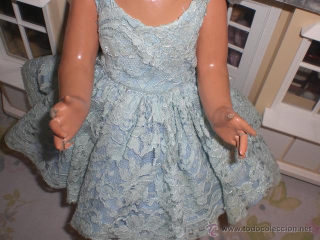 Muñeca española clasica: MUÑECA ANTIGUA DE CARTON PIEDRA AÑOS 40 - POSIBLE LORETIN DE FAMOSA O CORISA.... - Foto 4 - 105449072