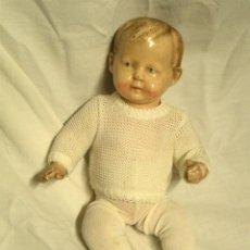 Muñeca española clasica: NIÑO BEBÉ ESTUCO PATINADO TEXTURA PORCELANA. MED. 25 CM ALTURA. Lote 44025521