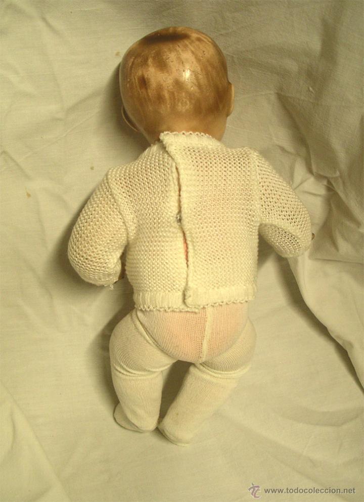 Muñeca española clasica: Niño Bebé Estuco Patinado textura porcelana. Med. 25 cm altura - Foto 2 - 44025521