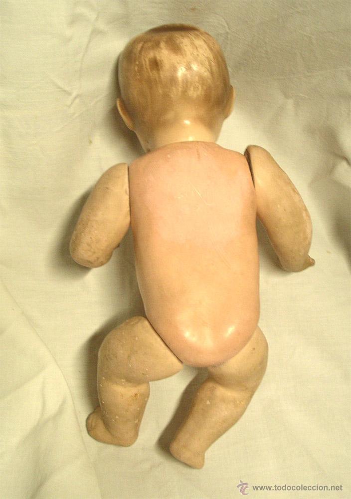 Muñeca española clasica: Niño Bebé Estuco Patinado textura porcelana. Med. 25 cm altura - Foto 4 - 44025521