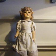 Muñeca española clasica: MUÑECA DE CARTÓN PIEDRA DE SERAFÍN VICENT CALVO AÑOS 40 Ó 50 JUGUETE ANTIGUO. Lote 44075722