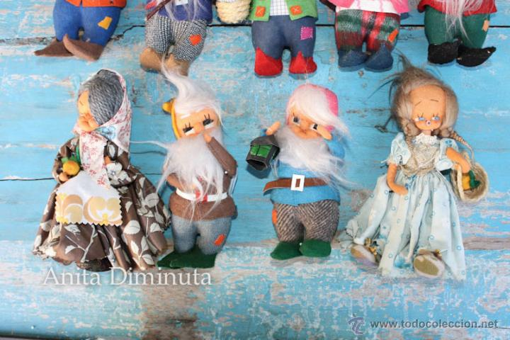 Muñeca española clasica: ANTIGUOS MUÑECOS DE TRAPO ESTILO ROLDAN DEL CUENTO BLANCANIEVES Y LOS SIETE ENANITOS Y LA BRUJA - BL - Foto 4 - 44076196