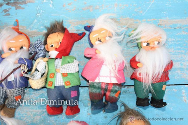 Muñeca española clasica: ANTIGUOS MUÑECOS DE TRAPO ESTILO ROLDAN DEL CUENTO BLANCANIEVES Y LOS SIETE ENANITOS Y LA BRUJA - BL - Foto 5 - 44076196