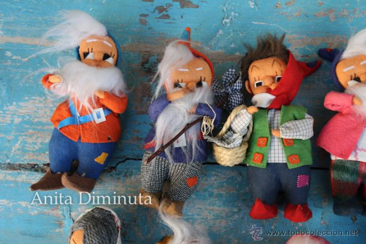Muñeca española clasica: ANTIGUOS MUÑECOS DE TRAPO ESTILO ROLDAN DEL CUENTO BLANCANIEVES Y LOS SIETE ENANITOS Y LA BRUJA - BL - Foto 6 - 44076196