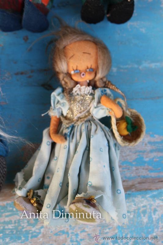 Muñeca española clasica: ANTIGUOS MUÑECOS DE TRAPO ESTILO ROLDAN DEL CUENTO BLANCANIEVES Y LOS SIETE ENANITOS Y LA BRUJA - BL - Foto 7 - 44076196