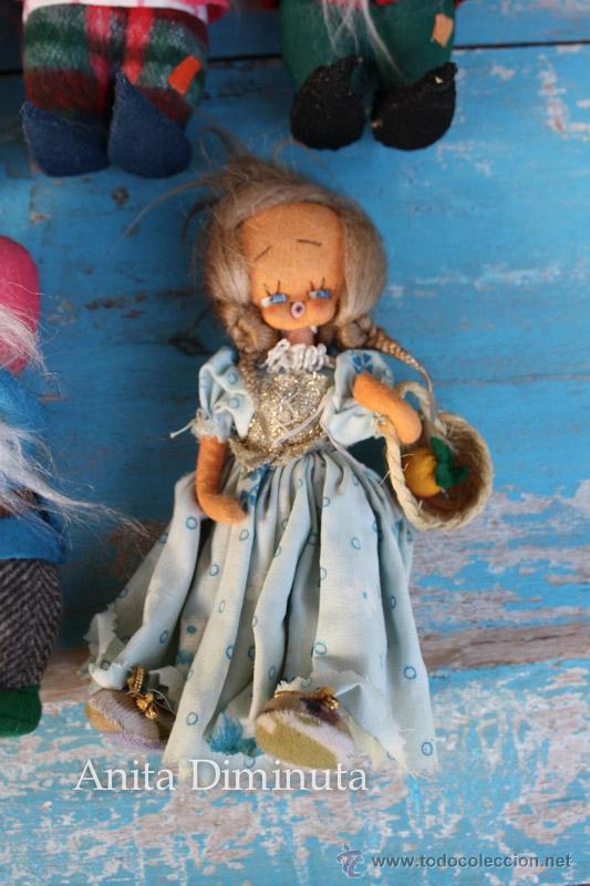 Muñeca española clasica: ANTIGUOS MUÑECOS DE TRAPO ESTILO ROLDAN DEL CUENTO BLANCANIEVES Y LOS SIETE ENANITOS Y LA BRUJA - BL - Foto 8 - 44076196