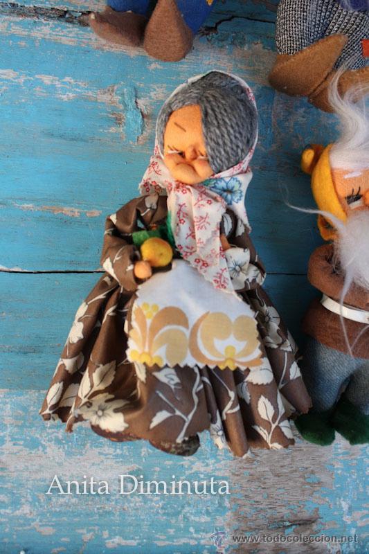 Muñeca española clasica: ANTIGUOS MUÑECOS DE TRAPO ESTILO ROLDAN DEL CUENTO BLANCANIEVES Y LOS SIETE ENANITOS Y LA BRUJA - BL - Foto 9 - 44076196