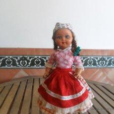 Muñeca española clasica: PRECIOSA MUÑECA NO PONE MARCA CON TRAJE REGIONAL DE CELULOIDE MIDE 45 CM. Lote 44950642
