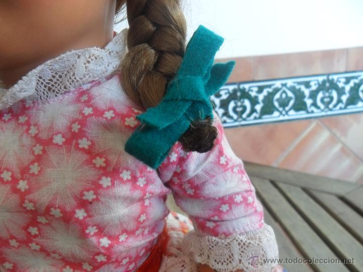 Muñeca española clasica: PRECIOSA MUÑECA NO PONE MARCA CON TRAJE REGIONAL DE CELULOIDE MIDE 45 CM - Foto 5 - 44950642