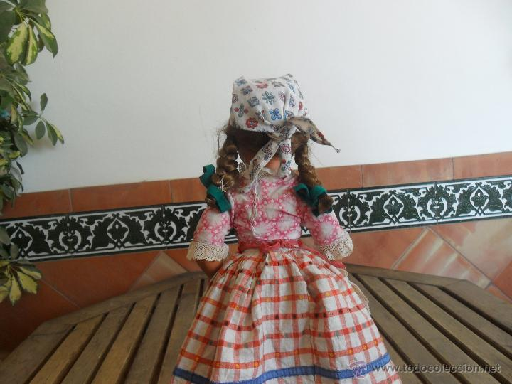 Muñeca española clasica: PRECIOSA MUÑECA NO PONE MARCA CON TRAJE REGIONAL DE CELULOIDE MIDE 45 CM - Foto 11 - 44950642