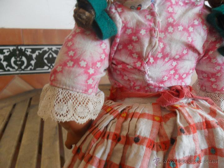 Muñeca española clasica: PRECIOSA MUÑECA NO PONE MARCA CON TRAJE REGIONAL DE CELULOIDE MIDE 45 CM - Foto 14 - 44950642