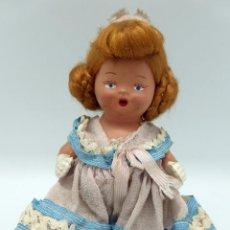 Klassische spanische Puppen - Muñeca terracota con vestido original y peinado peluca tocado años 40 - 50 16 cm - 45686595