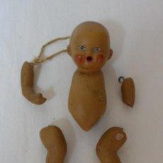 Muñeca española clasica: ANTIGUA MUÑECA ESPAÑOLA DE TERRACOTA, A RESTAURAR. Lote 45864239