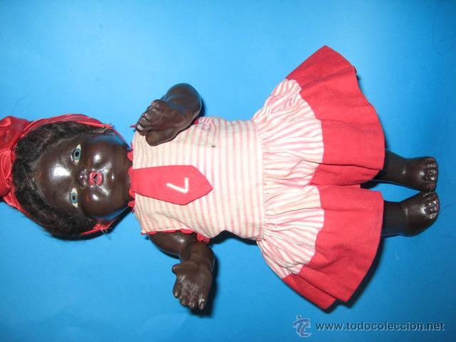 Muñeca española clasica: PRECIOSA NEGRITA DE TERRACOTA AÑOS 50, MIDE 32 cm - Foto 2 - 46518167