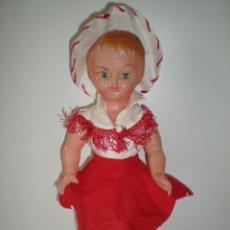 Muñeca española clasica: ANTIGUA MUÑECA ESPAÑOLA AÑOS 50 PLASTICO 30 CM POSIBLEMENTE MARCA GUILLEN Y VICEDO. Lote 46601610