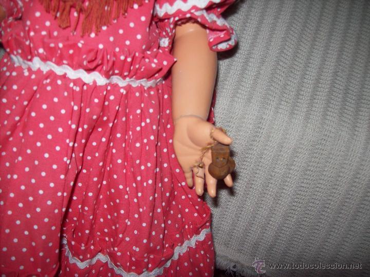 Muñeca española clasica: IMPRESIONANTE MUÑECA ANTIGUA FOLKLÓRICA DE CELULOIDE DURO.63CM.UNA VERDADERA JOYA!!!.VER FOTOS. - Foto 6 - 46671659