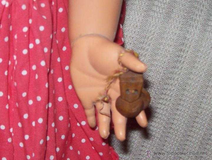 Muñeca española clasica: IMPRESIONANTE MUÑECA ANTIGUA FOLKLÓRICA DE CELULOIDE DURO.63CM.UNA VERDADERA JOYA!!!.VER FOTOS. - Foto 7 - 46671659