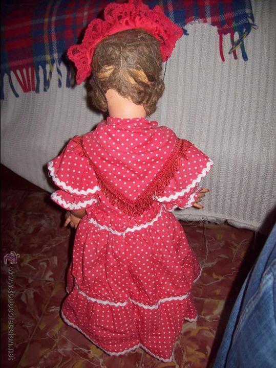 Muñeca española clasica: IMPRESIONANTE MUÑECA ANTIGUA FOLKLÓRICA DE CELULOIDE DURO.63CM.UNA VERDADERA JOYA!!!.VER FOTOS. - Foto 9 - 46671659