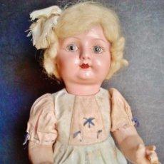 Muñeca española clasica: MUÑECA ESPAÑOLA ANTIGUA DE CARTÓN PIEDRA CON TRAJE ORIGINAL. . Lote 46746103