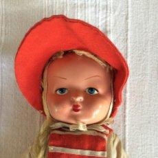 Muñeca española clasica: MUÑECA AÑOS 50, CARA DE CELULOIDE, CUERPO DE TRAPO, ORIGINAL. Lote 46915301