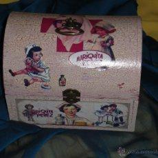 Muñeca española clasica: BAUL BOTIQUIN ENFERMERA, MUÑECA ANTIGUA, JUGUETE ANTIGUO. Lote 47510933