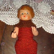 Muñeca española clasica: ANTIGUA PEPONA DE LOS 40 CON VESTIDO A GANCHILLO. Lote 22478904