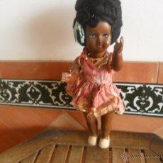 Muñeca española clasica: MUÑECA NEGRA EN CELULOIDE DE FABRICACION ESPAÑOLA MIDE SOBRE 50 CM. Lote 47682347