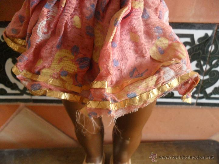 Muñeca española clasica: MUÑECA NEGRA EN CELULOIDE DE FABRICACION ESPAÑOLA MIDE SOBRE 50 CM - Foto 7 - 47682347