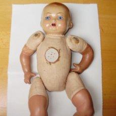 Muñeca española clasica: PRECIOSO MUÑECO ANTIGUO CON CUERPO DE TRAPO. Lote 47816183