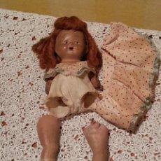 Muñeca española clasica: MUÑECA ANTIGUA TERRACOTA CON MECEDORA AÑOS 40 M. ELIAS BONET. Lote 48356142