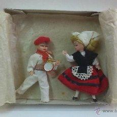 Muñeca española clasica: MUY BONITA PAREJA DE MUÑECOS .CON SUS TRAJES REGIONALES .. Lote 48369626