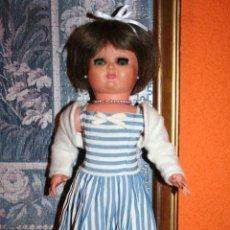 Muñeca española clasica: PRECIOSA MUÑECA ESPAÑOLA MERCEDITAS DE ESPAÑA, DE ICSA, VA MARCADA, CELULOIDE. AÑOS 50. PELO NATURAL. Lote 48690369