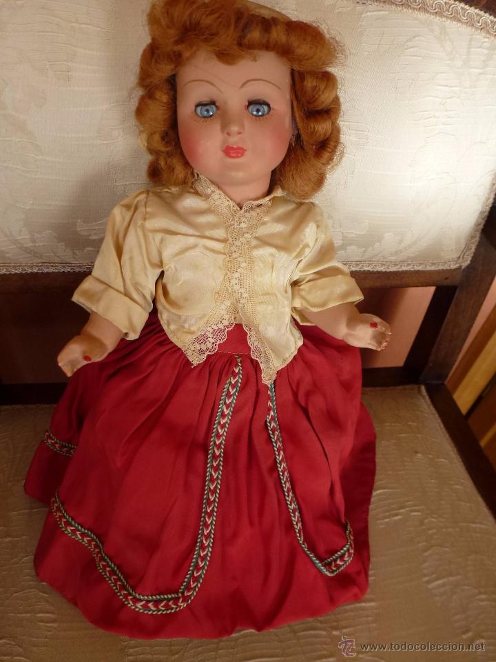 Muñeca española clasica: MUÑECA DE CARTON/CELULOIDE. TODA ORIGINAL, 32 CMS. - Foto 2 - 48928834