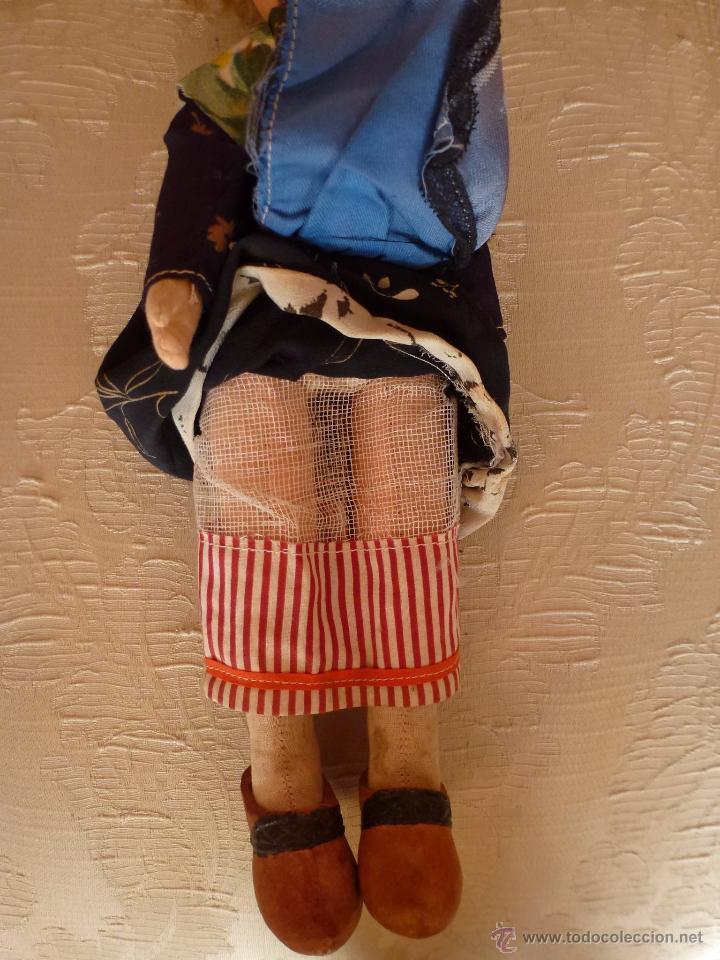 Muñeca española clasica: MUÑECA DE CARTON Y TRAPO. TODA ORIGINAL, 33 CMS. - Foto 8 - 48929026