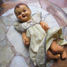 Muñeca española clasica: ANTIGUO MUÑECO DE CARTON PIEDRA CON VESTIDO ORIGINAL. Lote 49879802