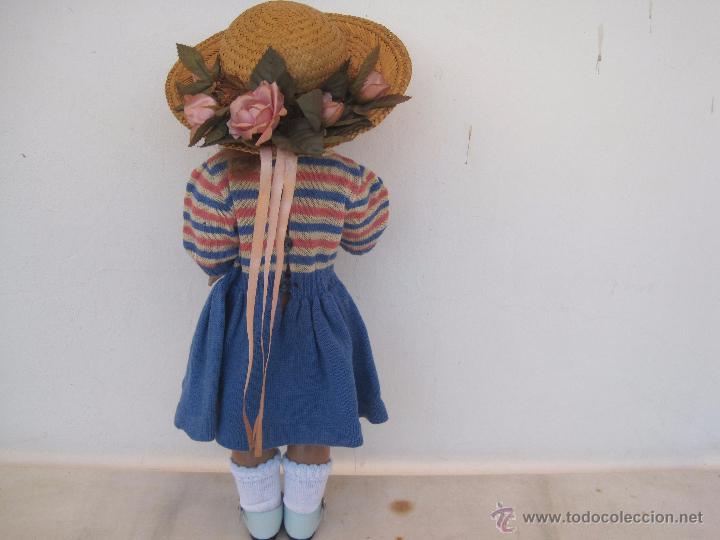 Muñeca española clasica: PRECIOSA VIVIANA, DE CARTÓN PIEDRA, 46 CM. AÑOS 40-50. - Foto 3 - 101974674