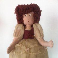 Muñeca española clasica: ANTIGUA Y ORIGINAL MUÑECA TELA AÑOS 40. Lote 50116094