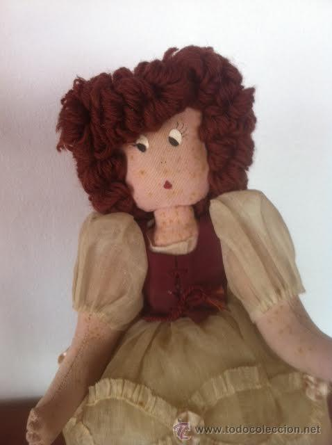Muñeca española clasica: Antigua y original muñeca tela años 40 - Foto 4 - 50116094