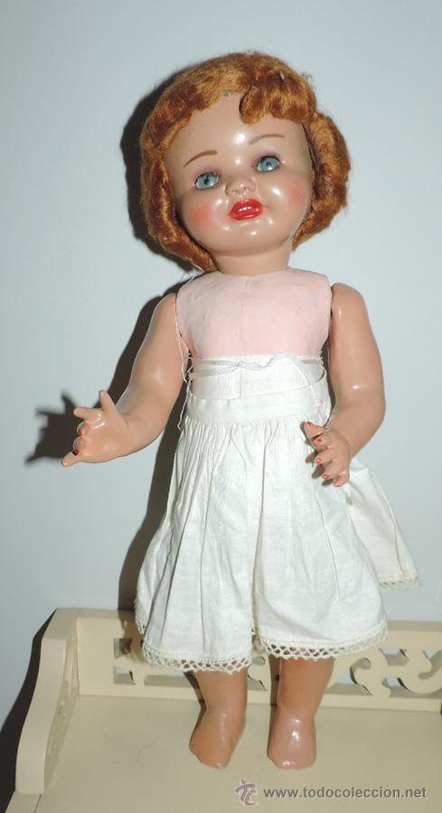Muñeca española clasica: ANTIGUA MUÑECA DE SERAFIN VICENT CALVO AÑOS 50. REALIZADO EN CARTÓN PIEDRA, CABELLO DE MOHAIR. OJO - Foto 2 - 50215016