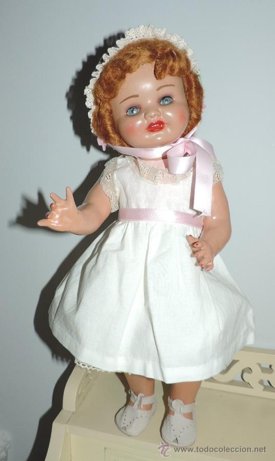 Muñeca española clasica: ANTIGUA MUÑECA DE SERAFIN VICENT CALVO AÑOS 50. REALIZADO EN CARTÓN PIEDRA, CABELLO DE MOHAIR. OJO - Foto 3 - 50215016