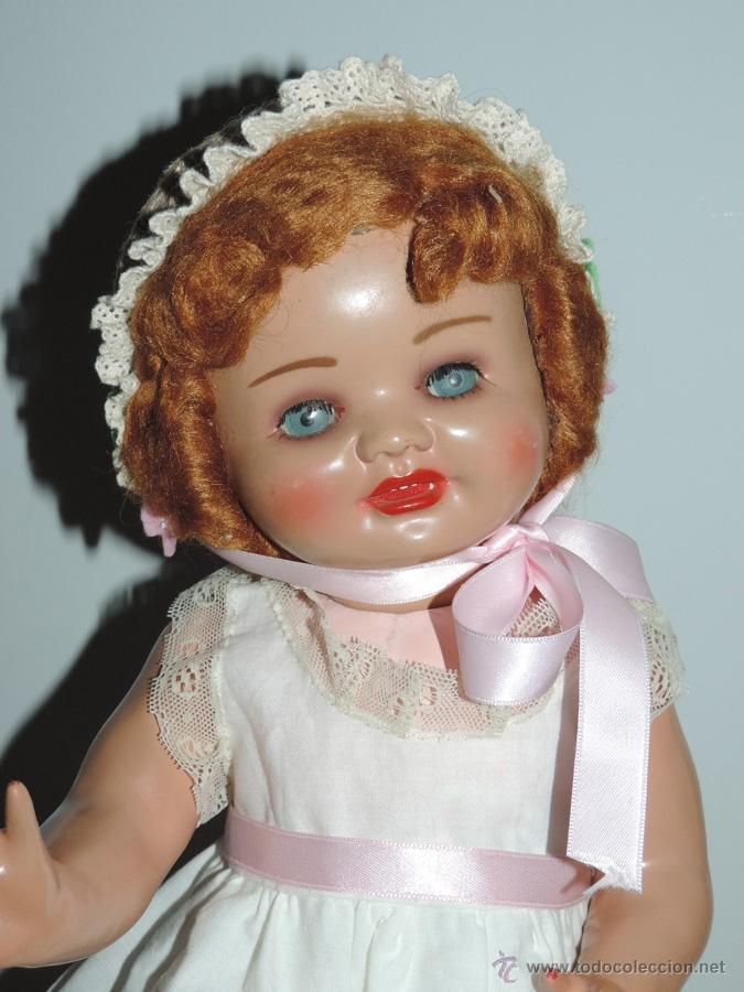 Muñeca española clasica: ANTIGUA MUÑECA DE SERAFIN VICENT CALVO AÑOS 50. REALIZADO EN CARTÓN PIEDRA, CABELLO DE MOHAIR. OJO - Foto 4 - 50215016