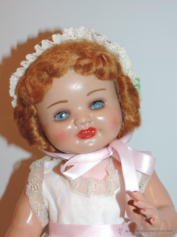 Muñeca española clasica: ANTIGUA MUÑECA DE SERAFIN VICENT CALVO AÑOS 50. REALIZADO EN CARTÓN PIEDRA, CABELLO DE MOHAIR. OJO - Foto 5 - 50215016