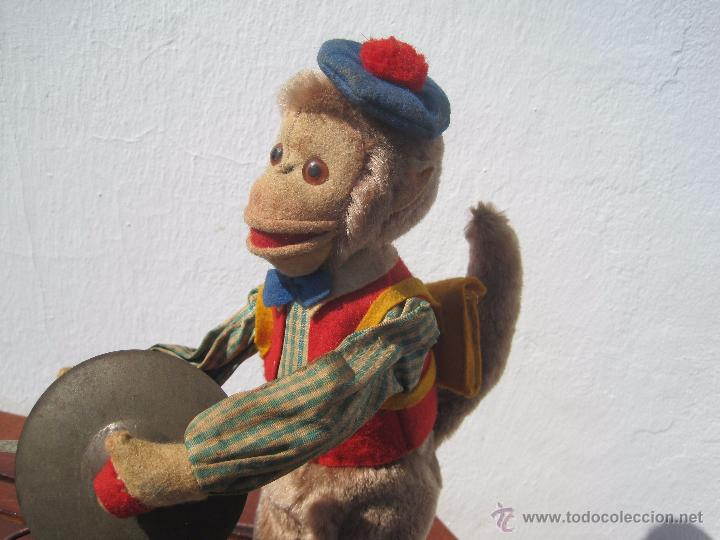 Muñeca española clasica: ANTIGUO MONO AUTÓMATA DE FIELTRO Y PELUCHE 32 CM. AÑOS 40 - Foto 4 - 51175401