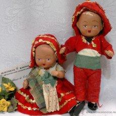 Muñeca española clasica: INTERESANTE PAREJA DE MUÑECOS EN TERRACOTA ANTIGUOS.. Lote 51251211