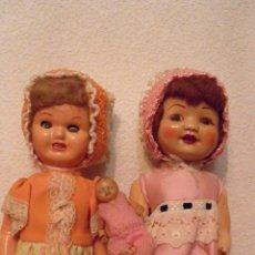 Muñeca española clasica: DOS VIEJAS MUÑECAS ESPAÑOLAS. VER IMAGENES, 40 CMS. APROX.. Lote 51348746