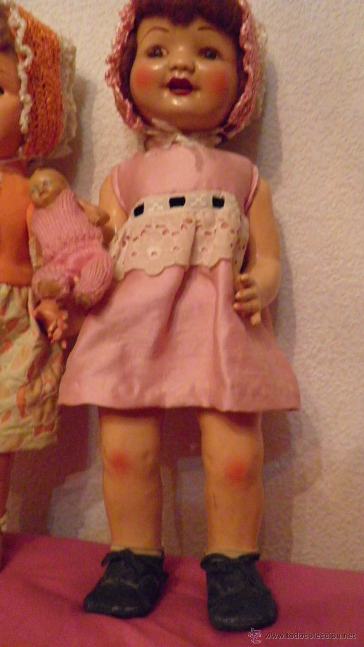 Muñeca española clasica: DOS VIEJAS MUÑECAS ESPAÑOLAS. VER IMAGENES, 40 CMS. APROX. - Foto 10 - 51348746