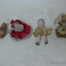 Muñeca española clasica: LOTE DE 4 MUÑECA MUY ANTIGUAS, ORIGINALES, VER FOTOS, ANTIGUA. Lote 52169088