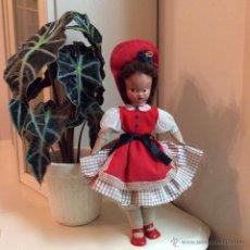 Muñeca española clasica: MUÑECA ESPAÑOLA CABEZA DE CELULOIDE Y CUERPO DE TRAPO. WERLI? AÑOS 50. Lote 52322679